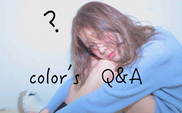 【bluefacesHP】HPにヘアカラーのQ&Aコーナーが出来ました。