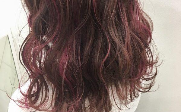 【ハイライト】ピンクのハイライトは細めがオススメ